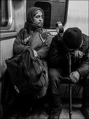 DRP130330_36 (dmitryzhkov) Tags: art city europe russia moscow documentary photojournalism street urban candid life streetlife outdoor streetphotography streetphoto moment light shadow dmitryryzhkov people portrait streetportrait face man sony person stranger black blackandwhite bw monochrome white bnw blacknwhite bnwstreet passenger sit seat sitdown metro subway look looks lookback shawl disabled invalid gipsy rom roma gipsi low lowlight