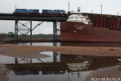 keb91517bowLSIr_rb (rburdick27) Tags: kayeebarker interlakesteamshipcompany marquette lakesuperior reflection locomotive locomotives train oredock