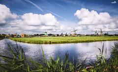 The Zaanse Schans (VandenBerge Photography) Tags: europeanrouteofindustrialheritage zaanstreek zaanseschans noordholland windmill europe thenetherlands water nature nationalgeographic clouds canon sky skyscape