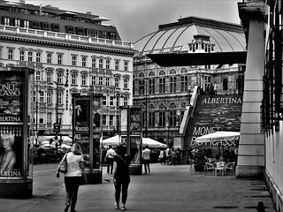 Street in BW. Albertina in Vienna