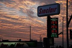 Sinclair Dino Mart (Chris Yarzab) Tags: sinclair gasstation dinomart dinosaur sky clouds sunset gasprices