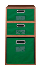 PC1F2HPKWCGN_2 (RegencyOfficeFurniture) Tags: niche regency cubo cubestorage modularstorage modular connecting connectable adaptable custom customizable cube square storageset closet organizer organization furniture cubes expandable home melamine laminate woodtone woodgrain pc1206 pc1206tf bins totes storagebin storagetote foldable folding collapsible collapsing fabric chromehandle labelholder nametag warmcherry green htotegn htote1206gn pc1f2hpk