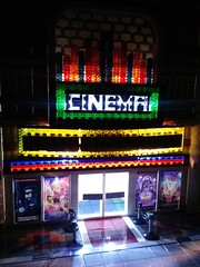 Illuminated Cinema (Rick_3691) Tags: brickstuff eclipsegrafx movieposters movietheater modular lego