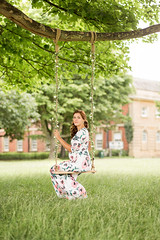 Milda (Tomas Ramoska) Tags: maternity nott nottingham nottinghamshire wollaton hall park derby derbyshire leicestershire leicester tomas ramoska tomasramoska wwwtomasramoskacom hellotomasramoskacom 2017 flick milda girl pregnancy pregnant swing flower green trees