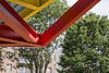 Donal Colfer _ Circle Pavilion _ 2017 _ Dublin _ Detail (SteMurray) Tags: approved donal colfer circle pavilion red yellow blue dublin foley street shelter architecture temporary community oonagh young gallery james joyce stemurray steie ste murray stesphotos