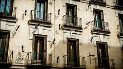 Ant attack (pepoexpress - A few million thanks!) Tags: nikon nikkor d610 d61024120mmf4 24120f4 pepoexpress architecture madridbuildings madrid plazadesantaana ant wall windows