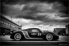 A Modern Contemporary... (M:J:H:Photography) Tags: racing motorsport monochrome mono clouds spyder 918 international paddock silverstone classic porsche