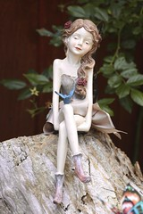 Garden Ornament (Read2me) Tags: capecod statue statuette girl garden cye fairy thechallengefactorywinner ge friendlychallenges flickrchallengewinner pregamewinner