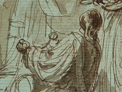 SUVÉE Joseph Benoît - La Présentation de Jésus au Temple (drawing, dessin, disegno-Louvre INV34397) - Detail 32 (L'art au présent) Tags: art painter peintre details détail détails detalles drawings dessins 17thcenturydrawings dessinsfrançais frenchdrawings peintresfrançais frenchpainters museum paris france bible adoration worship saint bless sacred holy blessed figure personnes people femme femmes woman man men virgin vierge enfant child enfance kid baby bébé childhood parents family famille croquis étude study sketch sketches dessins18e 18thcenturydrawings