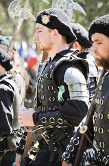 Scottish Halberdiers (GazerStudios) Tags: hats scottish warriors livinghistory halberds weapons 55300mm nikond90 celtic beards yummy armor men black renaissance 15thcentury leather historicalreenactment crochet berets bracers groups portraits