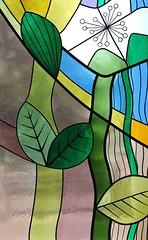 Stained Glass - Finkenberg Austria - July17 (3) (ailognom2005) Tags: stainedglasswindows colouredglass finkenberg austria zillertalaustria zillertal religion chapelofrest