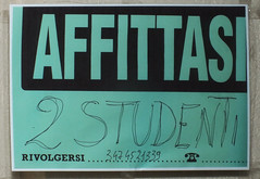 affittasi due studenti#48380el (Bazar del Bizzarro) Tags: rent lease leasing students affitto noleggio studenti cartello poster flier manifesto
