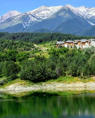 View of the Pirin mountains in Bansko,Bulgaria. (niknak2016) Tags: beautyinnature naturalbeauty naturelovers nature naturephotography lake landscape landscapephotography beautifulview view countryside green scenery scenics beautifulearth greenbeauty rural bansko bulgaria travelphotography travel holiday vacation mountains pirin pirinmountains forest woodlands woods picturesque