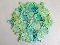 Knot tessellation - Wei Fu variation 2 front (Monika Hankova) Tags: origami tessellation wei fu paper