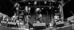 Black Peaks @ Plein Air de Rock 2017 (Yael P) Tags: analogic analog concert kodaktrix kodak 35mm blackwhite filmisnotdead believeinfilm shotonfilm horizon horizon202 panoramic russiancamera pleinairderock