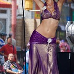 blonde belly dancer in purple thumbnail