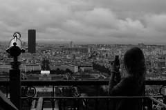 Vue de Paris (paulgarciaphoto) Tags: tour tower montparnasse eiffel young children girl blackandwhite bw noiretblanc view vue france paris paulgarciaphoto new