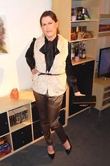 Prepared for autumn (Rikky_Satin) Tags: silk satin pussy bow blouse pants fur vest highheels pumps purse clutch vinyl pvc crossdressing crossdresser transvestite transgender tranny tgirl sissy fashion