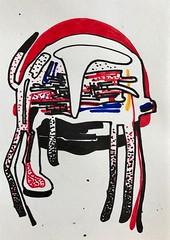 Jim Harris: Hjälm II. (Jim Harris: Artist.) Tags: hjälm helmet space cosmos technology dessin zeichnung kunstzeitgenössische drawing