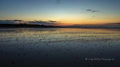Nightfall over Bamburgh (pixellesley) Tags: beach ocean lowtide sand coastline northumberland bamburgh reflections colour nightfall sundown landscape seascape lesleygooding