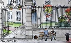 La France des Sous-Préfectures 72 (chando*) Tags: aquarelle watercolor croquis sketch france