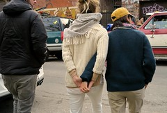 lesbian couple holding hands (travellight21) Tags: people romantic sweet couple lgbt lesbian street candid