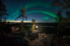 Light in the dark 4 - auroras and a meteorite (Risto_Les) Tags: auroras northernlights auroraborealis lapland finland landscape nightscape light autumn meteorite