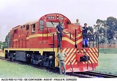 RFFSA ALCO/MLW RSD-12 7152 GE CONTAGEM AGO-87 (Valber Santana) Tags: alco mlw rsd12 rffsa brasil brazil ferrovia diesel locomotiva locomotive ge clássicos classic trem