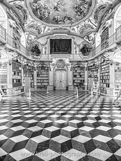 Library of Admont [b/w]