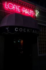Lone Palm Cocktails (Jeremy Brooks) Tags: bar california cocktailglass martiniglass missiondistrict neon sanfrancisco sanfranciscocounty themission usa camera:make=fuji camera:make=fujifilm camera:model=xpro2