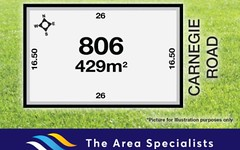 Lot 806 Carnegie Road, Point Cook VIC