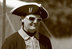 Revolutionary War Days, Cantigny Park. 14 (EOS) (Mega-Magpie) Tags: canon eos 60d cantigny park wheaton dupage il illinois usa america revolutionary war days people person man dude guy fella hat outdoors sunglasses sepia