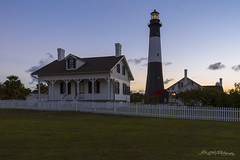 Tybee Island Light Comes to Lfe (ProPeak Photography) Tags: america architecture blue blueskies buildings clouds famousplace georgia green internationallandmark lighthouse northamerica orange places red sky summer touristattraction traveldestination travelandtourism tybeeisland usa unitedstates yellow