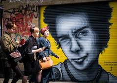 Pretty Vacant (XBeauPhoto) Tags: august2017 bricklane london sexpistols sidvicious zabou city people punk shoreditch streetart streetphotography tourism tourists urban urbanart sid vicious sex pistols