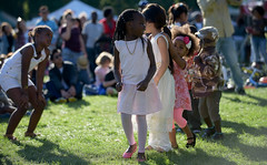Children Dancing (Anthony Mark Images) Tags: people portrait children dancing childrendancing fun joy happy grass park victoriapark kitchener ontario canada music cute adorable
