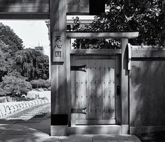 Tenshin-en garden entrance (Tim Ravenscroft) Tags: garden japanese tenshinen mfa boston monochrome blackandwhite blackwhite hasselblad hasselbladx1d x1d