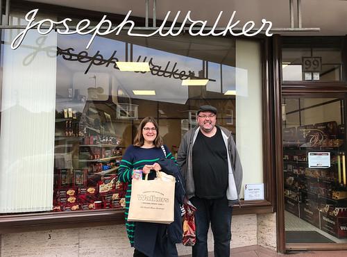 Sara & John @ the original Walker's Shortbread bakery