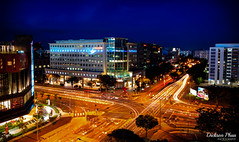 Long exposure at Tampines Central during blue hour (gunman47) Tags: 191 2017 asia august east sg singapore south tampines blue exposure hour junction landscape long minutes night photography sec second seconds three traffic trails tripod