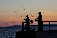 Optimism (alison2mcewan) Tags: recreation pastime fishing silhouette pier rod sport scotland ayr