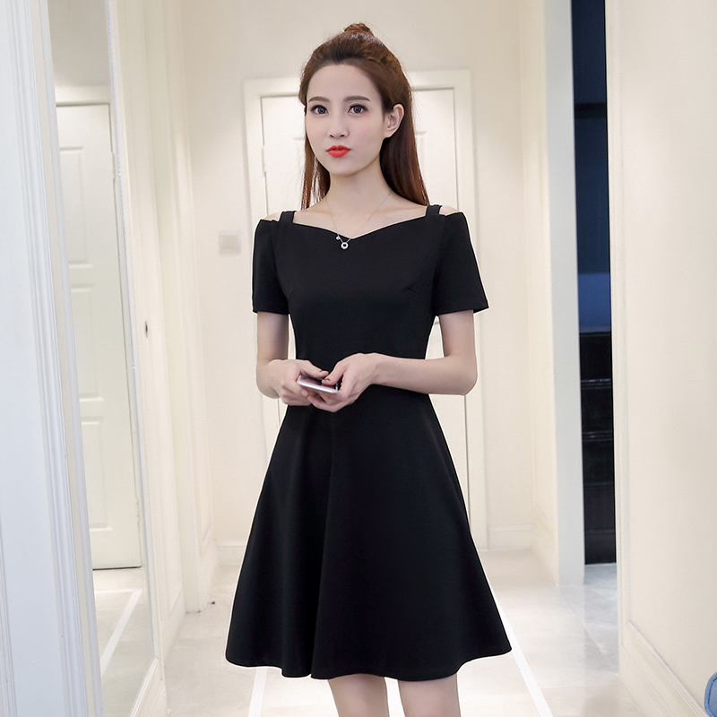 YEZKI summer 2017 new fashion show thin straps temperament A word skirt collar dress female