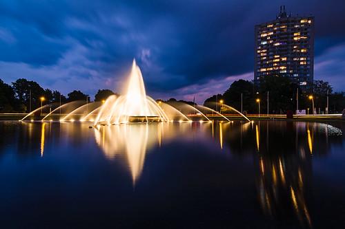 Blaue Stunde am Europaplatz