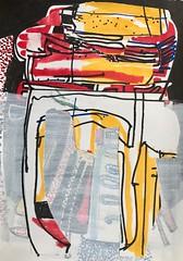 Jim Harris: Untitled. (Jim Harris: Artist.) Tags: art arte dessin collage kunst konst drawing