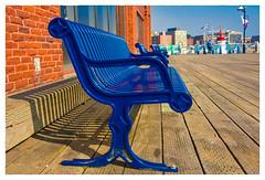 Boardwalk Benches (Timothy Valentine) Tags: shadow blue 2017 bench boardwalk 0817 vacation ourhotel monday saintjohn newbrunswick canada ca