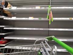 Empty juice shelves at Publix, pre-Irma (SunshineRetail) Tags: publix supermarket grocerystore store portcharlotte fl florida hurricane hurricaneirma shelves empty