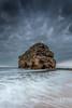 Standing Tall (Steven Peachey) Tags: seascape beach sky clouds marsden marsdenrock water canon6d ef1740mmf4l lee09gnd leefilters lightroom evening stevenpeachey northeastcoast uk rock