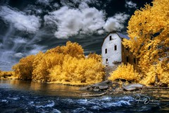 Old Missouri Mill (Jon Dickson Photography) Tags: infrared bestinfraredphotos bestphoto derelict abandoned waterscape clouds trees greaterphotographers