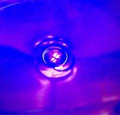 Water Drop In A Blue Bowl (Chic Bee) Tags: macromondays zodiac aquarius water drop bluebowl colors blue violet magenta