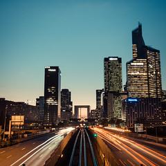 Paris, La Défense (Zeeyolq Photography) Tags: modern night ladéfense road paris buildings business france city