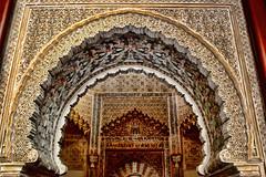 Palacio de la Madraza-Granada (alanchanflor) Tags: arcos islam dorado granada españa alfiz mocàrabe madraza nazarí gold canon monumento interior noflash