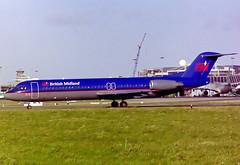 G-BVJA Fokker 100 British Midland (corkspotter / Paul Daly) Tags: gbvja fokker 100 f280100 f100 11489 l2j bma bd british midland airways 1994 pheze 19940425 2004 vhfnj dub eidw dublin negative scan